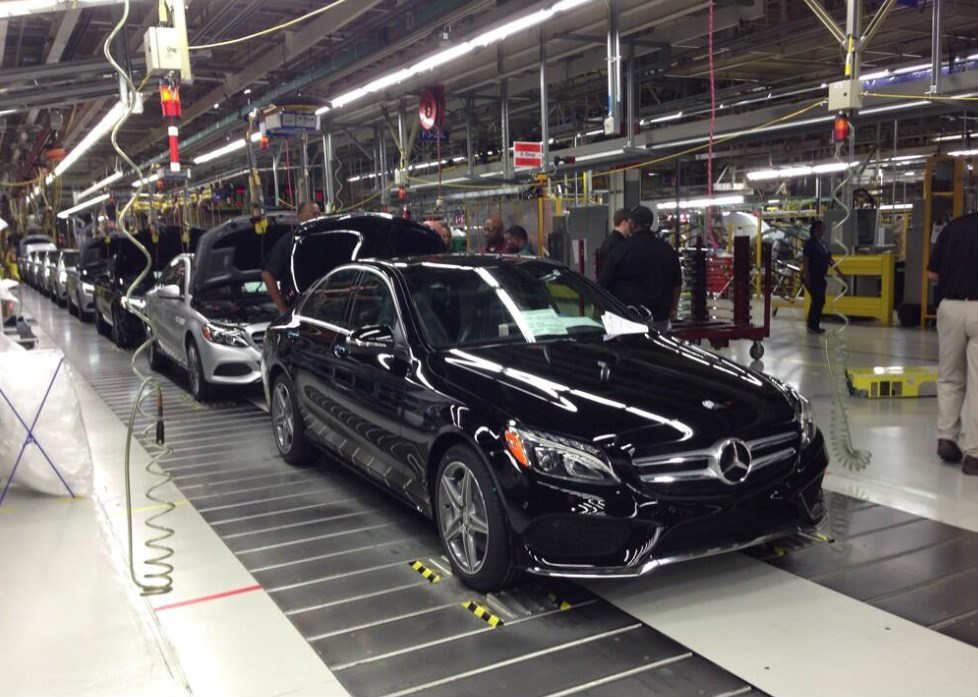 Mercedes benz alabama plant starts us market c class for Mercedes benz tuscaloosa