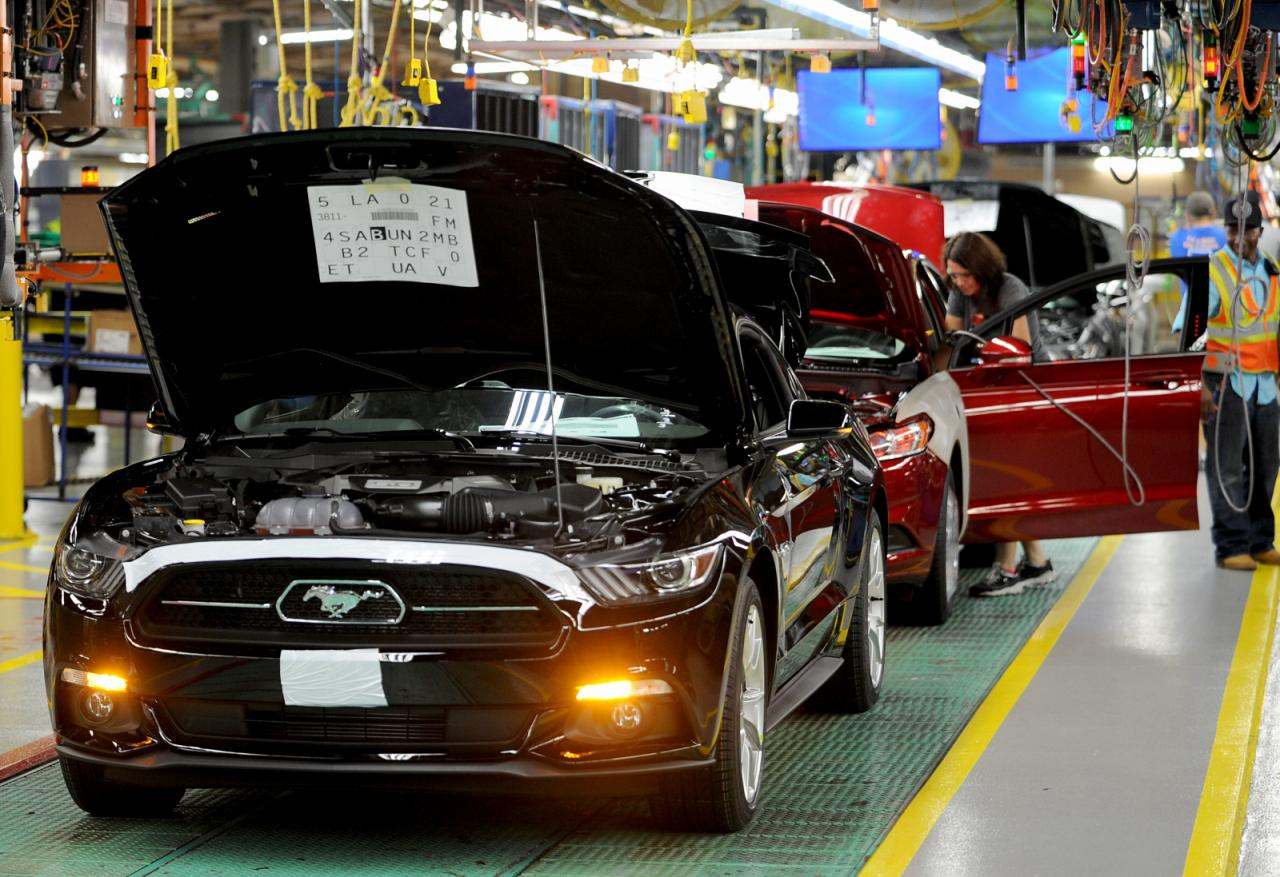 See How Your 2015 Ford Mustang Is Built In The Factory