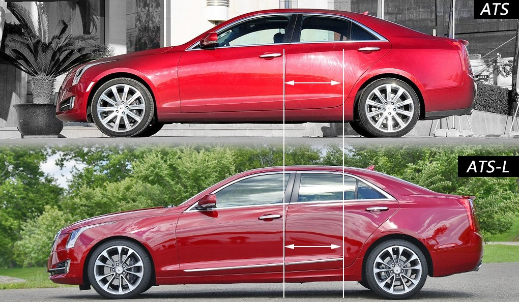 side profile comparison the 2015 cadillac ats vs ats l your ultimate and. Black Bedroom Furniture Sets. Home Design Ideas